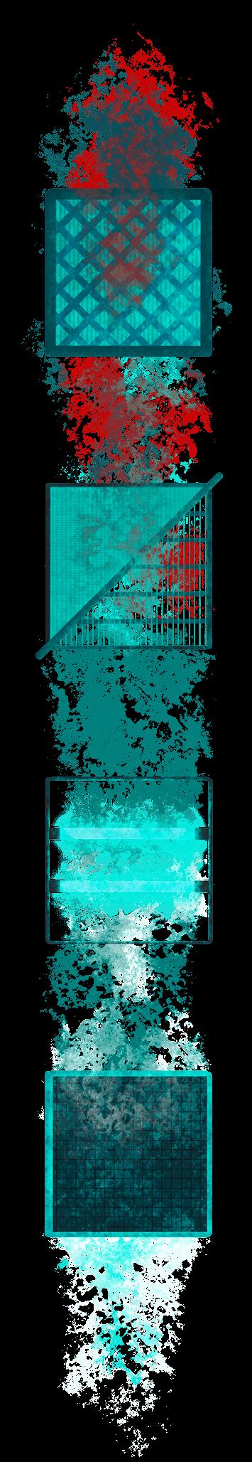 Filterkette vertikal