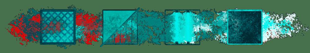 Filterkette quer