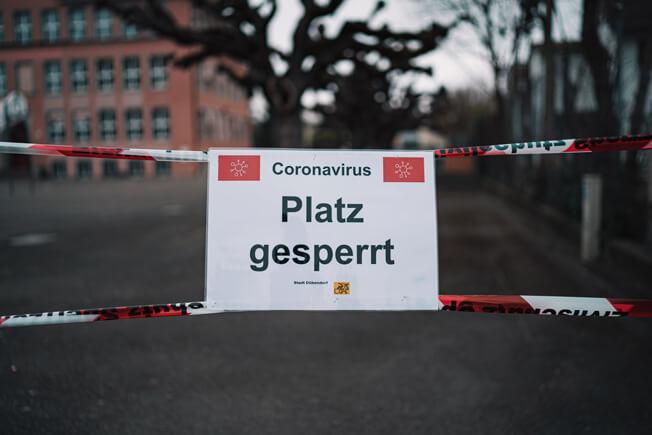 Schule - gesperrt wegen Corona